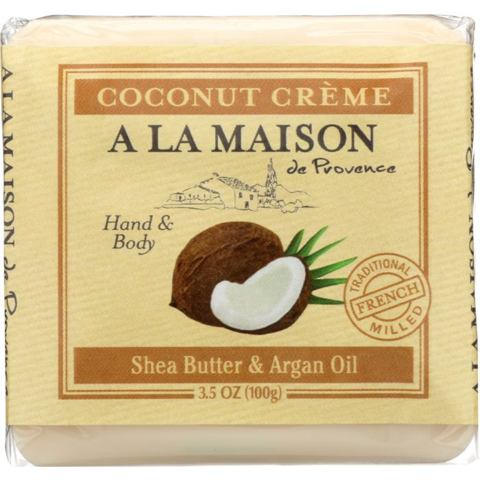 A LA MAISON DE PROVENCE: Mini Soap Bar Coconut Creme, 3.5 oz