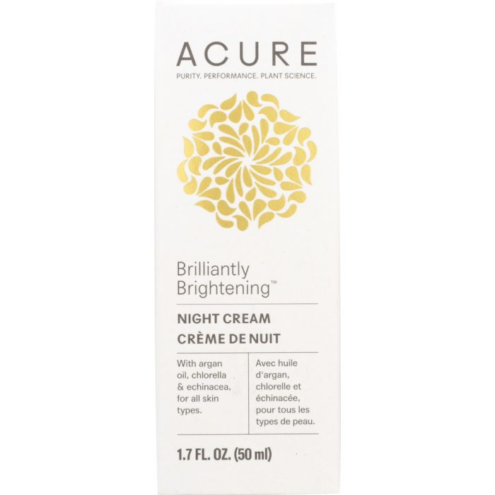 Acure Brilliantly Brightening Night Cream is a great addition to your online store for Mother's Day.