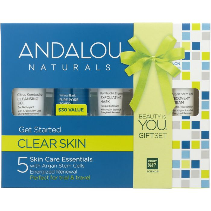 ANDALOU NATURALS: Clear Skin Get Started Kit, 5 pc