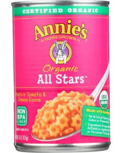 Annie's Homegrown Organic All Stars Pasta in Tomato and Cheese Sauce, 15 Oz