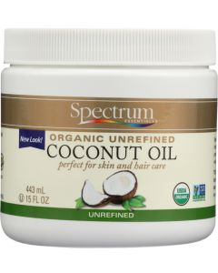 SPECTRUM ESSENTIALS: Organic Coconut Oil Unrefined, 15 oz