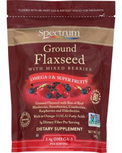 SPECTRUM ESSENTIALS: Ground Flaxseed with Mixed Berries, 12 oz