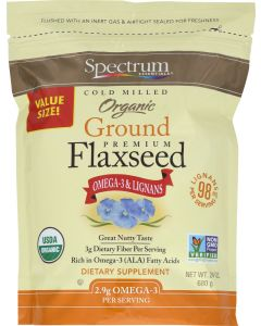 SPECTRUM ESSENTIALS: Organic Cold Milled Ground Premium Flaxseed, 24 oz
