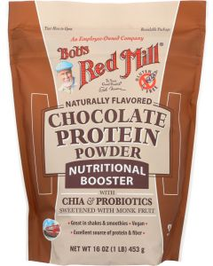 BOBS RED MILL: Chocolate Protein Powder Nutritional Booster, 16 oz