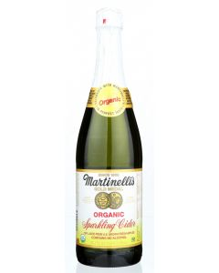 MARTINELLI: Organic Sparkling Cider Juice, 25.4 fo