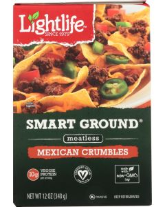 LIGHTLIFE: Smart Ground Plant Based Mexican Crumbles, 12 oz