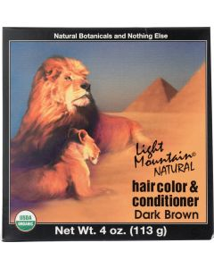 LIGHT MOUNTAIN: Natural Hair Color and Conditioner Dark Brown, 4 oz