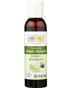 AURA CACIA: Organic Skin Care Oil Nuturing Sweet Almond, 4 oz