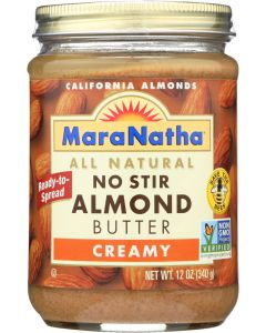 MARANATHA: No Stir Almond Butter Creamy, 12 Oz