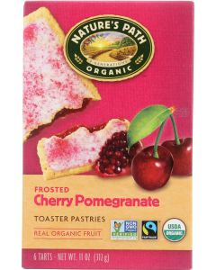 NATURE'S PATH: Organic Frosted Cherry Pomegranate Toaster Pastries, 11 oz