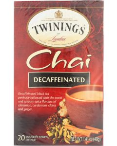 TWINING TEA: Decaffeinated Chai Tea, 20 bg