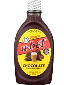 FOX UBET: Syrup Chocolate, 22 oz