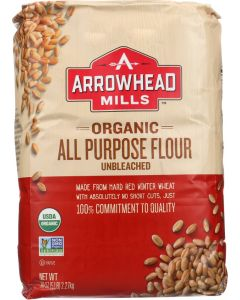 ARROWHEAD MILLS: Organic Unbleached All Purpose Flour, 5 lb