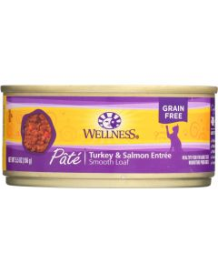 WELLNESS: Canned Cat Food Turkey and Salmon Formula, 5.5 oz