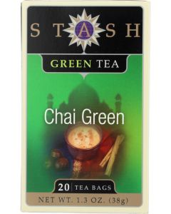 STASH TEA: Chai Green Tea 20 Tea Bags, 1.3 oz