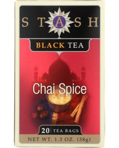 STASH TEA: Black Tea Chai Spice 20 Tea Bags, 1.3 oz