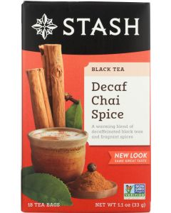 STASH TEA: Decaf Tea Chai Spice 18 Tea Bags, 1.1 oz