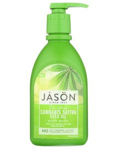 JASON: De-Stress Cannabis Sativa Seed Oil Body Wash, 30 fl oz