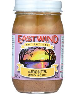 EAST WIND: No Salt Smooth Almond Butter, 16 Oz