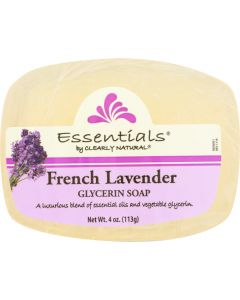 CLEARLY NATURAL: Soap Bar Glycerin French Lavender, 4 oz