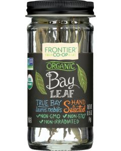FRONTIER HERB: FRONTIER HERB: Whole Organic Bay Leaf, 0.15 oz
