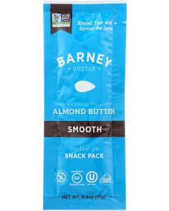 BARNEY BUTTER: Almond Butter Smooth Snack Pack, 0.6 oz