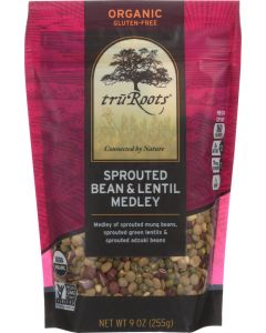 TRUROOTS: Sprouted Bean & Lentil Medley, 9 oz