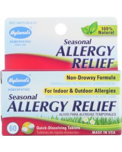 Hylands 100% Natural Homeopathic Seasonal Allergy Relief, 60 Tb