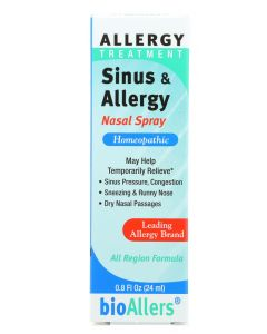 BIOALLERS: Allergy Treatment Sinus and Allergy Nasal Spray, 0.8 oz