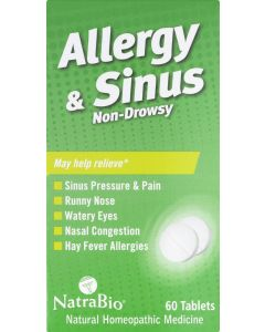 NATRA BIO: Allergy and Sinus Non-Drowsy, 60 Tablets