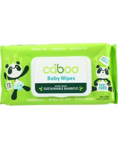 CABOO: Wipe Baby Bamboo Flip Top, 72 packs