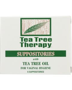 TEA TREE THERAPY: Suppositories with Tea Tree Oil for Vaginal Hygiene, 6 Pc