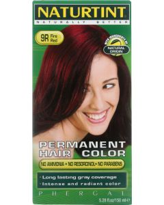 Naturtint Permanent Hair Color 9R Fire Red, 5.28 oz