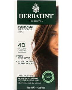 HERBATINT: Permanent Haircolor Gel 4D Golden Chestnut, 4.56 fo