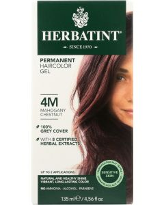 HERBATINT: Permanent Hair Color Gel 4M Mahogany Chestnut, 4.56 oz