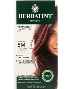 HERBATINT: Permanent Hair Color Gel 5M Light Mahogany Chestnut, 4.56 oz