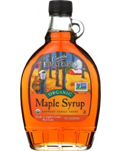 COOMBS FAMILY FARMS: Grade A Organic Maple Syrup Amber, 12 oz