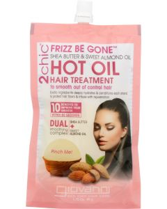 GIOVANNI COSMETICS: 2Chic Frizz Be Gone Hot Oil Hair Treatment Shea Butter & Sweet Almond Oil, 1.75 oz