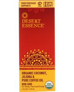 DESERT ESSENCE: Organic Coconut Jojoba Oil and Coffee Oil, 4 oz