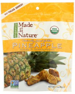 MADE IN NATURE: Organic Dried Pineapple, 3 oz