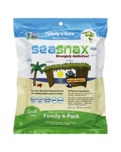 SEA SNAX: Seaweed Snack Classic Olive Oil Organic Pack of 4, 2.16 oz