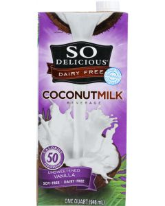 SO DELICIOUS: Beverage Milk Coconut Unsweetened Vanilla, 32 fo