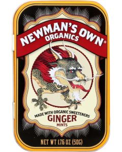 Newman's Own Organics Mints Ginger, 1.76 Oz