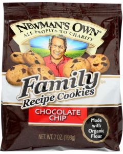 NEWMANS OWN ORGANIC: Cookie Chocolate Chip Family Recipe, 7 oz