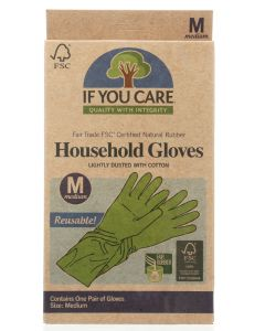 IF YOU CARE: FSC Certified Household Gloves Medium, 1 ea