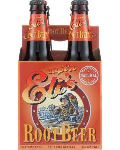 CAPTAIN E: Soda Root Beer 4 Pack, 48 fo
