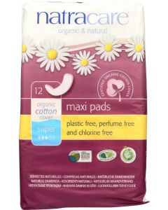 NATRACARE: Super Natural Maxi Pads, 12 pc