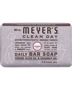 MRS MEYERS CLEAN DAY: Daily Bar Soap Lavender Scent, 5.3 oz