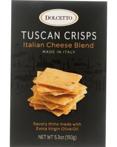 DOLCETTO: Tuscan Crisps Italian Cheese Blend, 5.3 oz