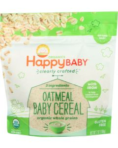 HAPPY BABY: Probiotic Oatmeal Baby Cereal, 7 oz